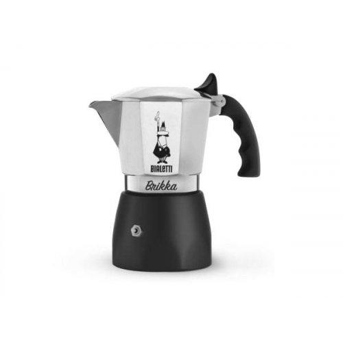 BIALETTI BRIKKA Καφετιέρα Espresso με Μηχανισμό για Καϊμάκι 2 Μερίδων (New Model)