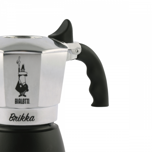 BIALETTI BRIKKA SILVER (New Model 2018) Καφετιέρα με Μηχανισμό για Καϊμάκι 4 μερίδων (0006784) 0003783