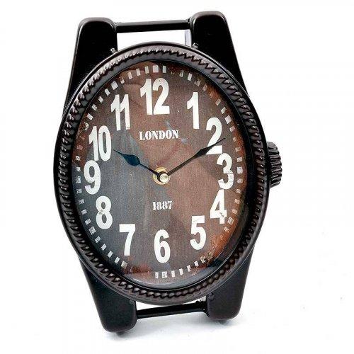 FYLLIANA 14STC745-1 125-24-008 Ρολόι Επιτραπέζιο Καφέ 18*4.5*25εκ.