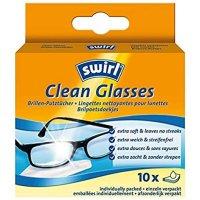 SWIRL CLEAN GLASSES Καθαριστικά Μαντηλάκια Γυαλιών 10τμχ