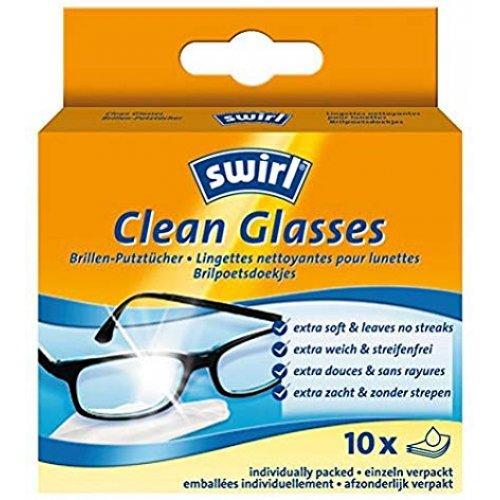 SWIRL CLEAN GLASSES Καθαριστικά Μαντηλάκια Γυαλιών 10τμχ 0011059