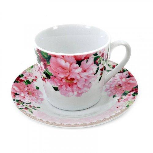 FYLLIANA KLS-130906 (04-16-058)  Σετ Φλυτζάνια Καφέ 6 τμχ Ροζ Λουλούδι
