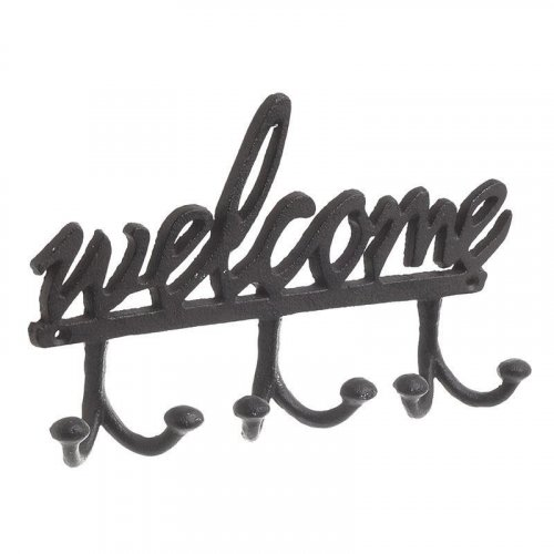 INART 3-70-798-0266 Κρεμάστρα Welcome Μεταλλική Καφέ 24.5χ4χ15