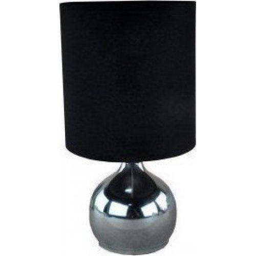 FERRARA 153-53000 Πορτατίφ με Πλήκτρο Αφής Ε14 Νικελ Μαύρο 0016365