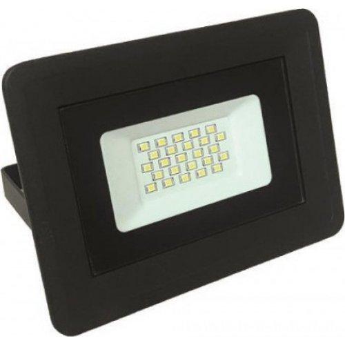 EUROLAMP 147-69413 Προβολέας Μαύρος LED SMD PLUS 20W IP65 6500K 0016767