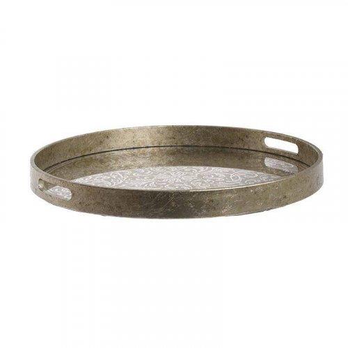 INART 3-70-705-0028 Δίσκος Ξύλινος Αντικέ Χρυσός Δ45χ4,5 εκ. 0017312