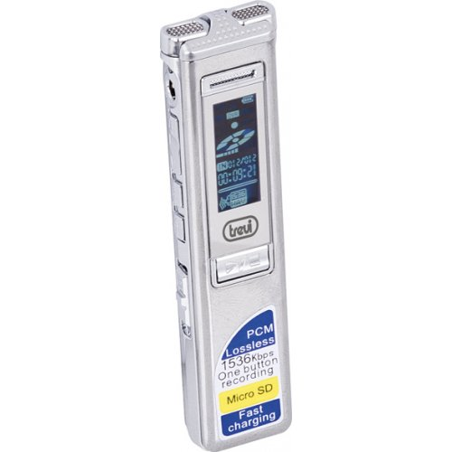 TREVI DR-437 SA Mini Επαναφορτιζόμενο Ψηφιακό Καταγραφικό με Λειτουργία VOX / Μνήμη 4GB / Σύνδεση USB 0017884