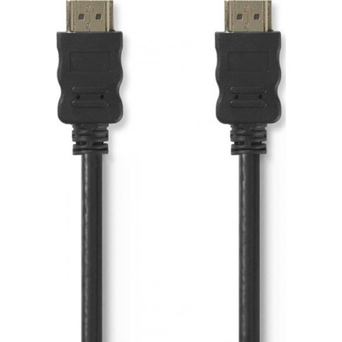 NEDIS CVGT34000BK50 Καλώδιο HDMI αρσ. - HDMI αρσ. 5.0m με Επίχρυσες Επαφές. 0018033