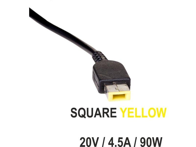 AKYGA AK-ND-29 Τροφοδοτικό για Laptop LENOVO 20V / 4,5A , 90W, με Square Yellow Βύσμα