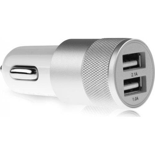 LAMTECH LAM081734 Metal Dual USB Φορτιστής για κινητό 2.1Ah Ασημί