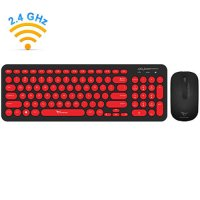 ALCATROZ A2000BR Wireless Mouse And Keyboard Jellybean A2000 B.RED