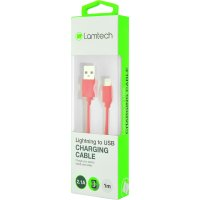 LAMTECH LAM445134 DATACABLE iPhone 5/6/7 1m (non MFi) -RED