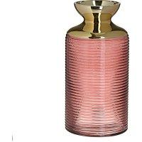 INART 3-70-670-0008 Βάζο Γυάλινο Κόκκινο/ Χρυσό Δ12χ25 εκ.