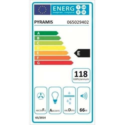 PYRAMIS 065029402  Απορροφητήρας Απλός με Μεταλλικά Φίλτρα 60cm Καφέ 0018301