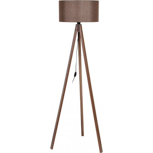 FYLLIANA 835-91-087 Φωτιστικό Δαπέδου Τρίποδο Καφέ Καπέλο Με Καφέ Βάση 40χ150εκ