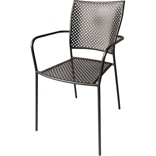 FYLLIANA 0030-91-004 Μεταλλική Καρέκλα Εξοχής Καφέ 102 53χ55χ90εκ.
