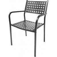 FYLLIANA 0030-91-005 Μεταλλική Καρέκλα Εξοχής Γκρι 102 53χ55χ90εκ.