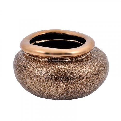 FYLLIANA 0024-82-056 Κεραμική Κουπ Χρυσό Χρώμα 12,5εκ