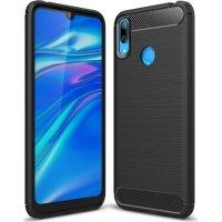 POWERTECH MOB-1300 Θήκη Carbon Huawei Y7/Y7 Prime 2019 Black