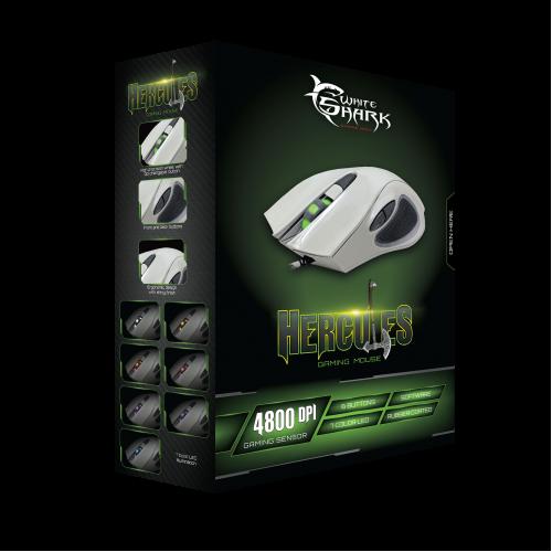 WHITE SHARK GM-1605 Gaming Mouse 4800DPI Hercules White 0019189