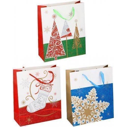 XMAS GIFTS Χριστουγεννιάτικη Τσάντα Δώρων σε Ποικίλα Σχέδια 0019242
