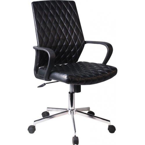FYLLIANA 093-92-124 Καρέκλα Γραφείου 5568 Μαύρο Τεχνόδερμα 59χ61χ95/105