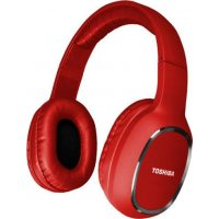 TOSHIBA RZE-BT160H-RED Audio Bluetooth Sport Rubber Coated Stereo Headphone Red