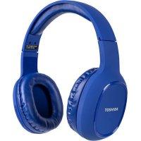 TOSHIBA RZE-BT160H-BLUE Audio Bluetooth Sport Rubber Coated Stereo Headphone Blue