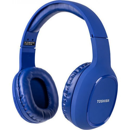 TOSHIBA RZE-BT160H-BLUE Audio Bluetooth Sport Rubber Coated Stereo Headphone Blue