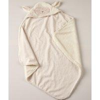 KENTIA Rocco 10 Βρεφική Κουβέρτα Αγκαλιάς  Με Κουκούλα Flannel Fleece