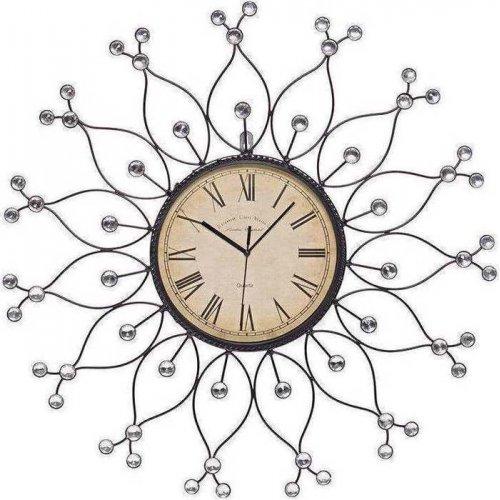 INART 3-20-207-0005 Ρολόι Μεταλλικό Με Διάφανες Πέτρες Δ60εκ. 0020067