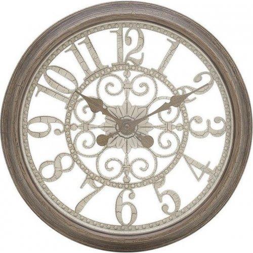 INART 3-20-284-0076 Ρολόι Τοίχου Pl Αντικέ Καφέ / Εκρού Δ35,5χ5εκ. 0020139