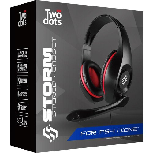 TWO DOTS TDGT0039R Headset For PS4 Storm Red 0020401