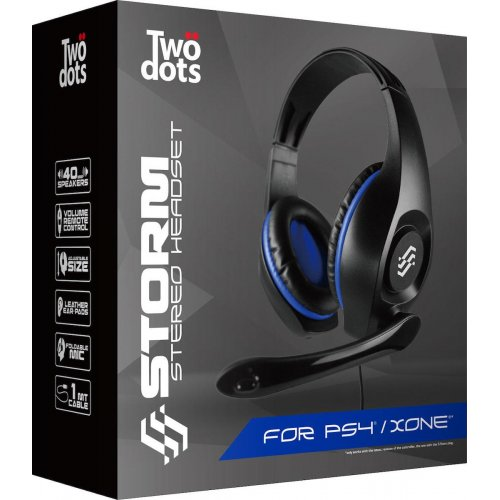 TWO DOTS TDGT0039B Headset For PS4 Storm Blue 0020672
