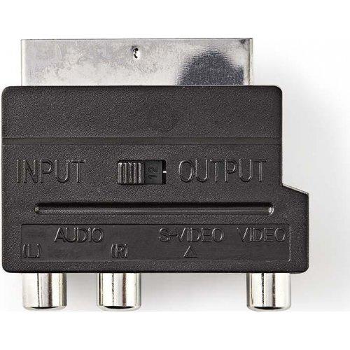 NEDIS CVGP31902BK Αντάπτορας Scart αρσ. - 3x RCA θηλ. + S-Video θηλ. 0020701