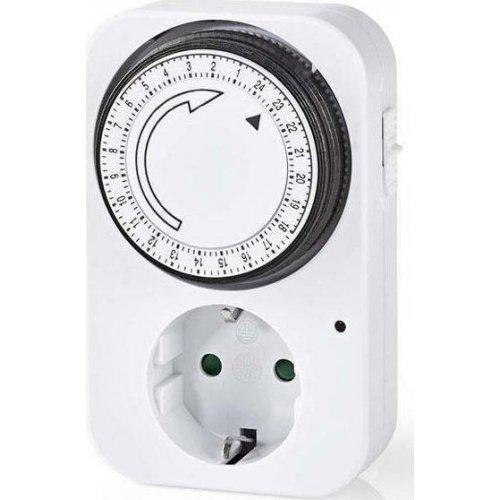 NEDIS TIME01 Ημερήσιος Αναλογικός Χρονοδιακόπτης 24 ωρών, Εσωτερικής Χρήσης 0020773