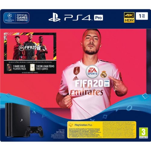 SONY PlayStation 4 PRO 1TB & FIFA 20 με 1 Dual Shock 4 Wireless Controller