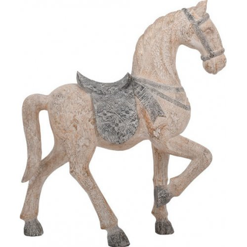 FYLLIANA 266-92-415 Διακοσμητικό Άλογο Μπεζ 37χ12χ45εκ.