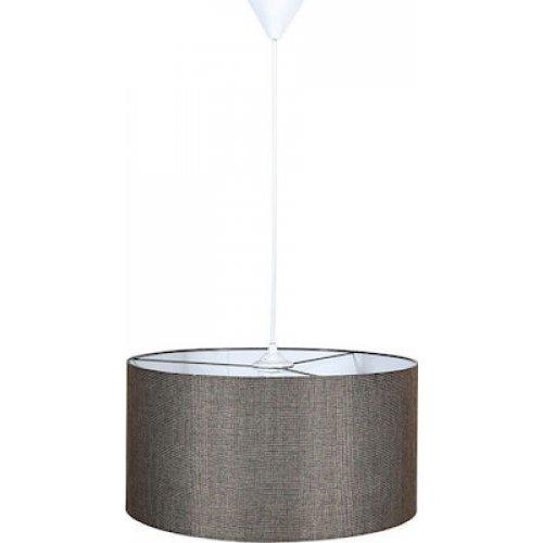 FYLLIANA 835-91-093 Φωτιστικό Οροφής Καφέ Καπέλο Με Λευκό Καλώδιο 40χ75εκ