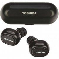 TOSHIBA RZE-BT800EMK-BLK Audio Wireless Earbuds With Build-In Dual Mic Black