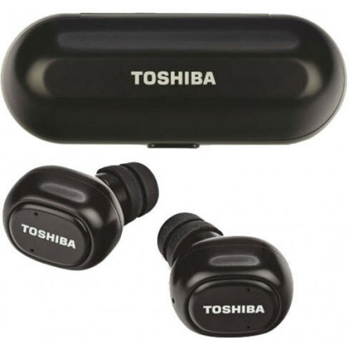 TOSHIBA RZE-BT800EMK-BLK Audio Wireless Earbuds With Build-In Dual Mic Black