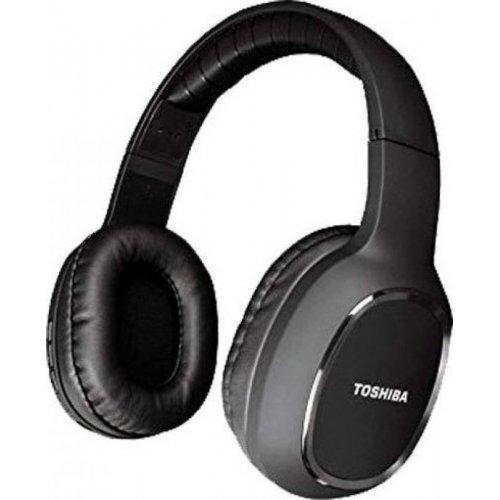TOSHIBA RZE-BT160H-BLK Audio Bluetooth Sport Rubber Coated Stereo Headphone Black