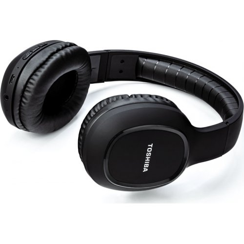TOSHIBA RZE-BT160H-BLK Audio Bluetooth Sport Rubber Coated Stereo Headphone Black 0021283