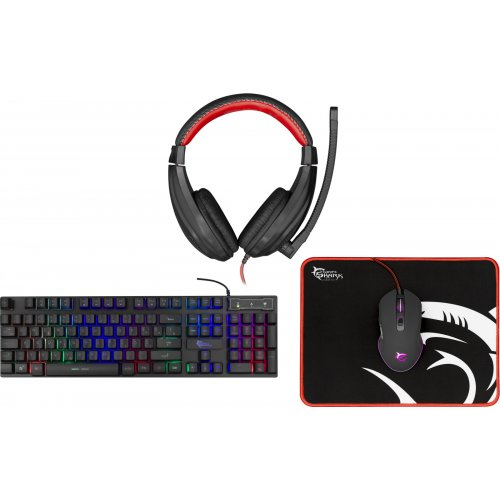 WHITE SHARK GC-4102 Comanche 2 Greek Kayboard Gaming Combo Set 4 in 1