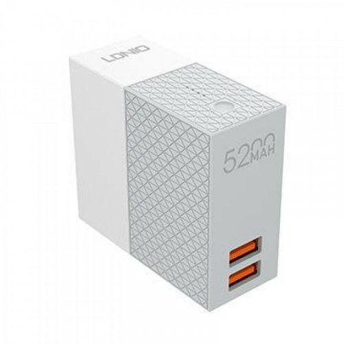 LDNIO PA606 Φορτιστής Τοίχου Και Powerbank 5200 mA 2 in 1 LD-606 0021386
