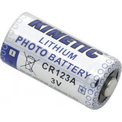KINETIC CR123A Μπαταρία Λιθίου CR123A, 3V, για Φωτογραφικές Μηχανές, σε blister 1 Μπαταρίας