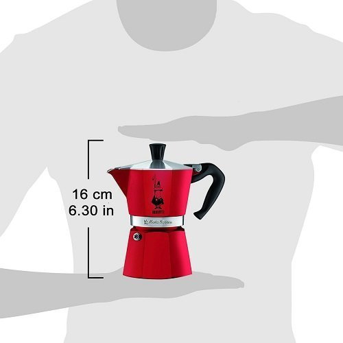 BIALETTI Moka Express Καφετιέρα Espresso 3 Μερίδων Κόκκινο  - Αλουμινίο (0004942) 0021554