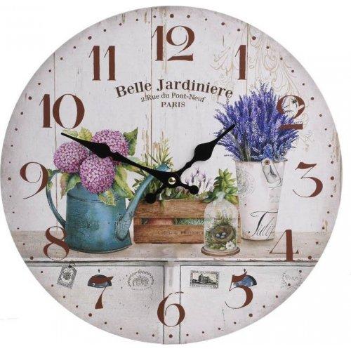 INART 3-20-773-0277 Ρολόι Τοίχου Ξύλινο Εκρού Ποτιστήρι 34 x 4 0021885