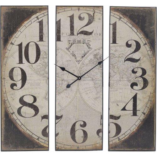 INART 3-20-773-0296 Ρολόι Τοίχου Ξύλινο / Μεταλλικό Άτλας (SM) 90 x 6 x 90 0021886