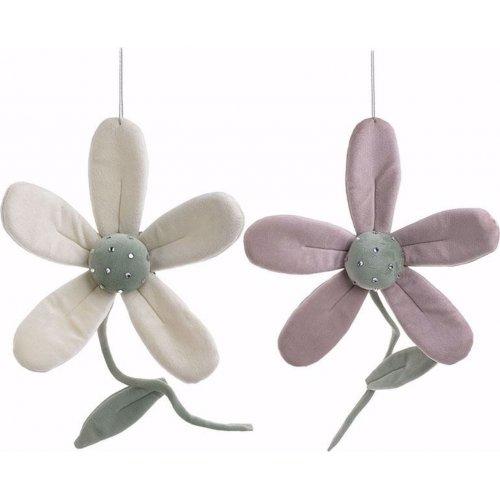 INART 3-70-146-0406 S/2 Διακοσμητικό Κρεμαστό Λουλούδι 2 Χρώματα Υφασμάτινα 15 χ 5 χ 34 0021889
